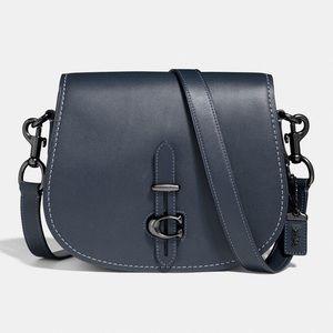 NWT Coach Midnight Navy Saddle Bag